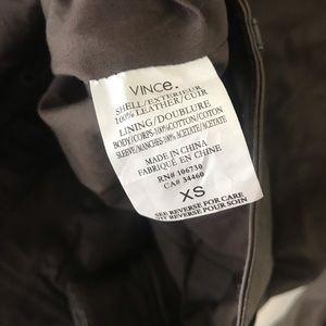 Vince Jackets & Coats - Vince Biker Genuine Leather Jacket Key Grey XS